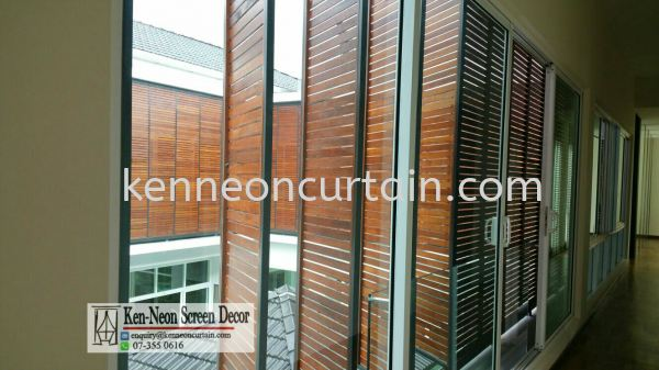 Timber Blinds Johor Bahru (JB), Malaysia, Taman Molek Supplier, Installation, Supply, Supplies | Ken-Neon Screen Decor