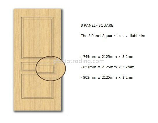 3 PANEL - SQUARE HDF Moulded Door Skin Johor Bahru (JB), Malaysia. Supplier, Suppliers, Supply, Supplies   CF ASIA TRADING SDN BHD