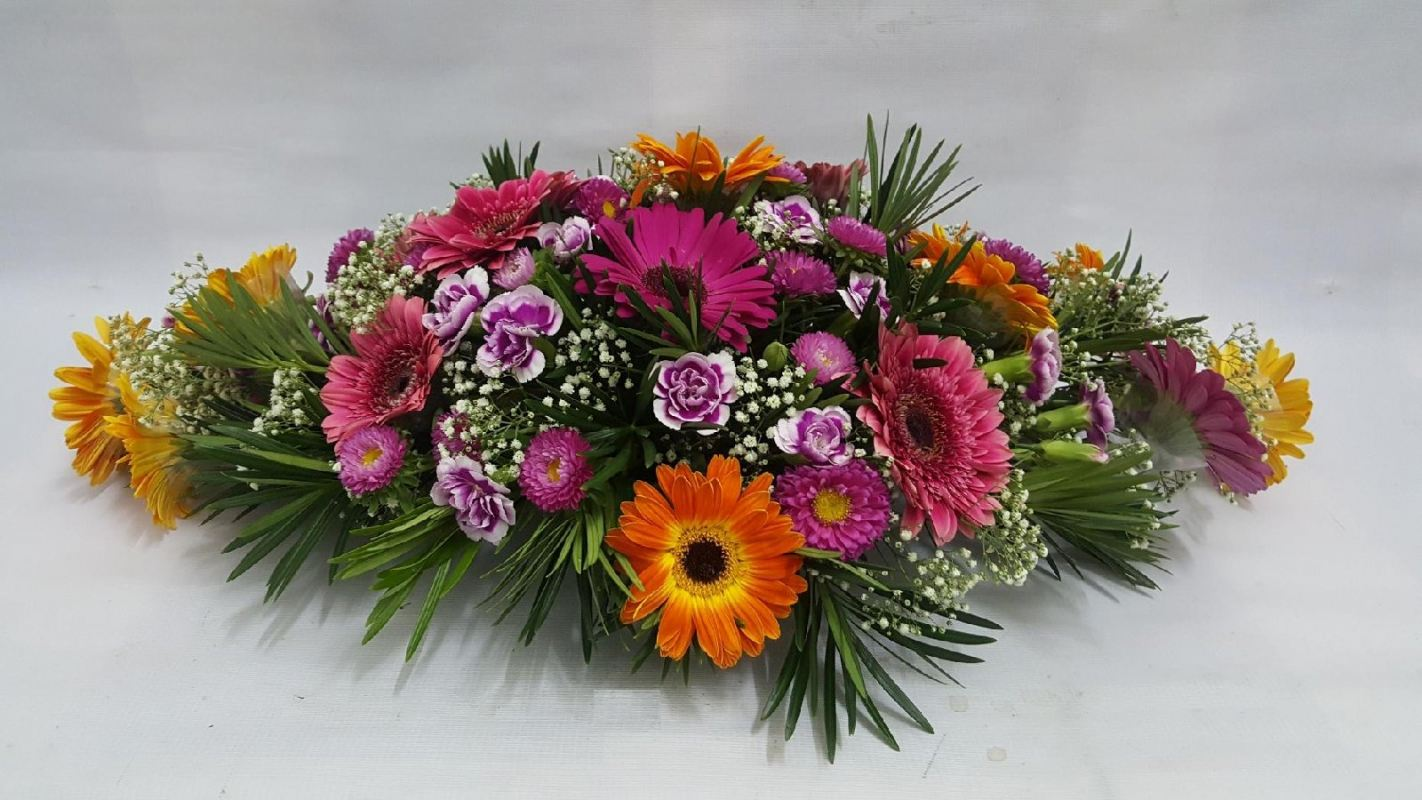 Buy long and low flower arrangement basket
