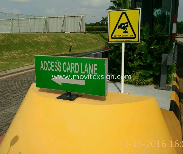 road sign /Garden sign /Guard House sign for safety direction Safety Signage safety sign sample Johor Bahru (JB), Johor, Malaysia. Design, Supplier, Manufacturers, Suppliers | M-Movitexsign Advertising Art & Print Sdn Bhd
