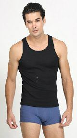UW155 - Men¡¯s Black Sleeveless Undershirt Men's Black Collection Neoron Story Singapore Supplier, Supply, Supplies, Clothing | Miracle Negative Ions