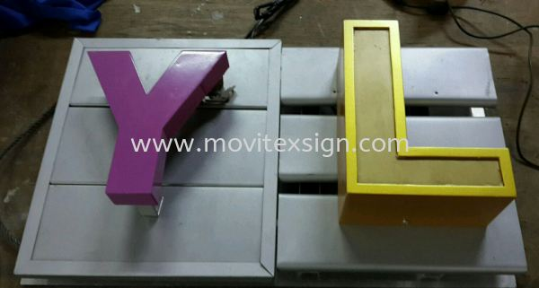 Aluminium Pannal Signboard Material GI Pannal strip board with 3D led box up lighting or LG pvc 3D cut out spary paint (click for more detail) Building  fasade sign front  panel /Fasade board  design 3D Panel Signage  Johor Bahru (JB), Johor, Malaysia. Design, Supplier, Manufacturers, Suppliers   M-Movitexsign Advertising Art & Print Sdn Bhd