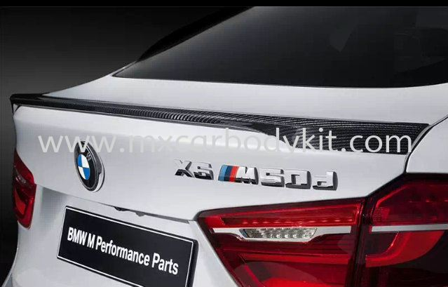 BMW X6 F16 PERFORMANCE TRUNK SPOILER F16 (X SERIES) BMW Johor, Malaysia, Johor Bahru (JB), Masai. Supplier, Suppliers, Supply, Supplies   MX Car Body Kit