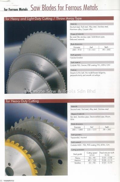 TENRYU Saw  TCT Circular Saw Blade Singapore, Johor Bahru (JB), Johor, Malaysia Supplier, Suppliers, Supply, Supplies | Otano Trading