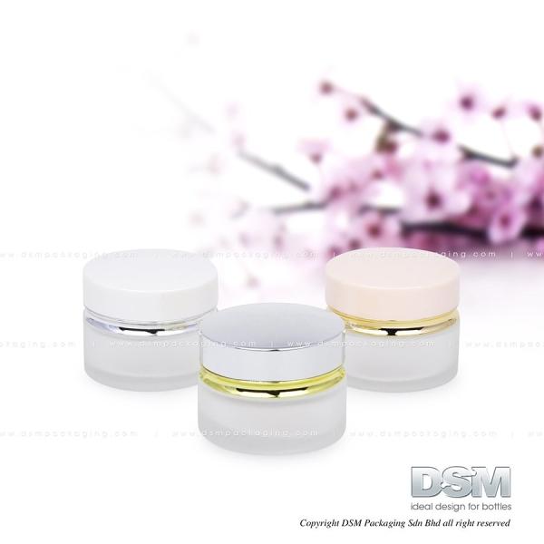 D 004 - 20g (Pink, Silver) Glass Container Malaysia, Kuala Lumpur (KL), Selangor, Kepong. Manufacturer, Wholesaler, Supplier, Supply | DSM Packaging Sdn Bhd