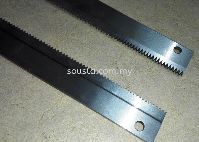Tooth Knives / Zig Zag Knives Plastic and Packaging Industries Johor Bahru (JB), Malaysia Sharpening, Regrinding, Turning, Milling Services | Sousta Cutters Sdn Bhd
