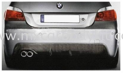BMW 5 SERIES E60 2003-2009 M-TECH (M-SPORT) REAR BUMPER DIFFUSSER W/CARBON + SINGLE OUTLET MUFFLER E60 (5 SERIES) BMW Johor, Malaysia, Johor Bahru (JB), Masai. Supplier, Suppliers, Supply, Supplies   MX Car Body Kit