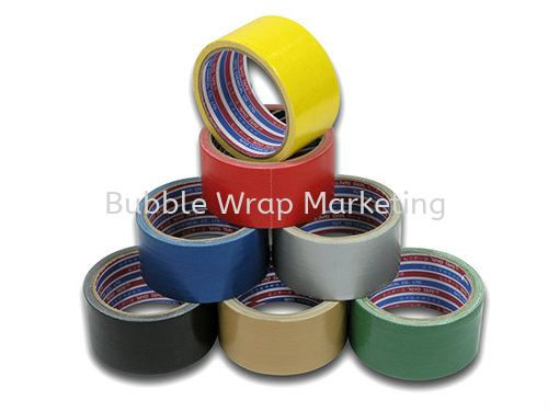 Yellow  (48mm x 7Y x 100rolls) RM300/ctn Cloth Tape Johor Bahru (JB), Malaysia, Kulai Supplier, Suppliers, Supply, Supplies | Bubble Wrap Marketing