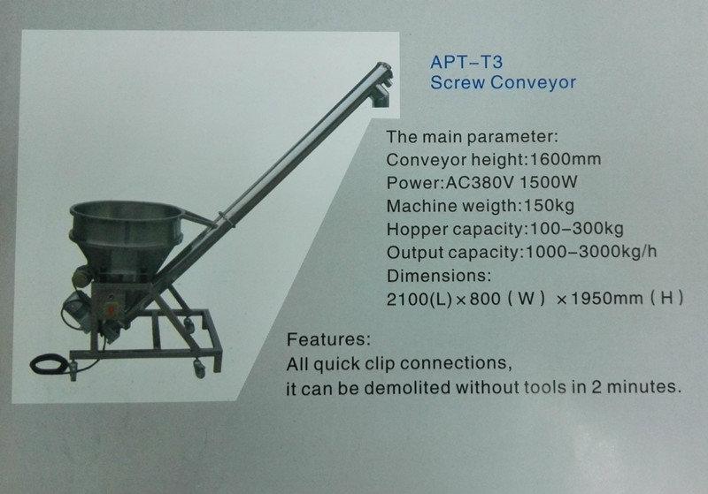 APT-T3 Screw Conveyor Conveyor type feeder Packaging Equipment Penang, Malaysia, Selangor, Kuala Lumpur (KL), Perai, Shah Alam Supplier, Suppliers, Supply, Supplies   Kimah Industrial Supplies (M) Sdn Bhd