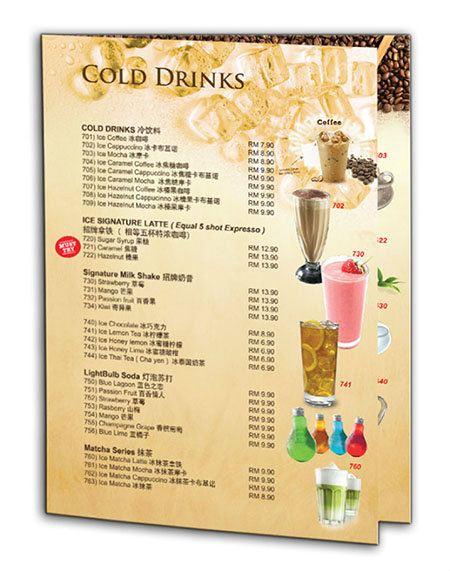 Menu Design Johor Bahru (JB), Johor Jaya Design, Supplier, Supply, Supplies | Marin Media Design