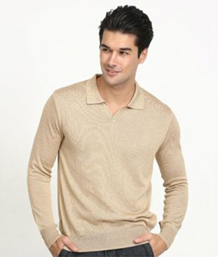 OC008 - Knit Long Sleeve Polo Shirt Neoron Outerwear Collection Neoron Story Singapore Supplier, Supply, Supplies, Clothing   Miracle Negative Ions
