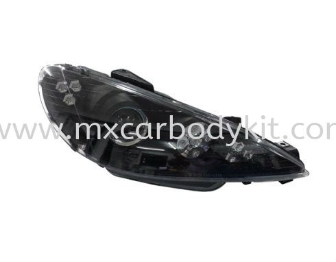 PEUGEOT P206 1998-2005 HEAD LAMP PROJECTOR W/LED HEAD LAMP ACCESSORIES AND AUTO PARTS Johor, Malaysia, Johor Bahru (JB), Masai. Supplier, Suppliers, Supply, Supplies | MX Car Body Kit
