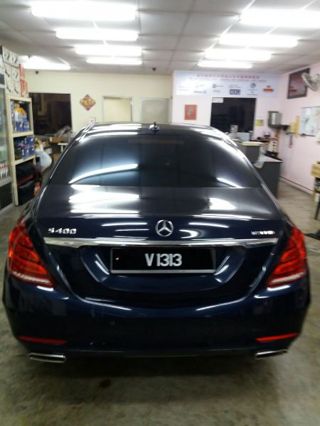 2) Benz S400 Car Tinting - ASWF Charoal 15 & Excel IRP 25 Mercedes-Benz ASWF - Made in USA Kuala Lumpur (KL), Selangor, Malaysia. Installation, Supplier, Specialist | Savgard Windscreen & Tint Specialist