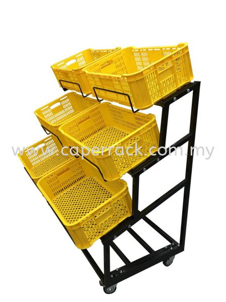 Fruit Rack with Yellow Basket Fruit and Veg Rack Racking Seremban, Negeri Sembilan (NS), Malaysia Supplier, Suppliers, Supply, Supplies | Caper Rack Sdn Bhd