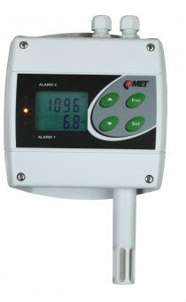 H6520 - remote CO2 concentration thermometer hygrometer with Ethernet interface and two relays