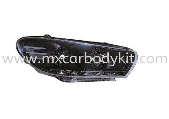 VOLKSWAGEN SCIROCCO 2009 & ABOVE HEAD LAMP CRYSTAL PROJECTOR BLACK W/LED & MOTOR HEAD LAMP ACCESSORIES AND AUTO PARTS Johor, Malaysia, Johor Bahru (JB), Masai. Supplier, Suppliers, Supply, Supplies | MX Car Body Kit