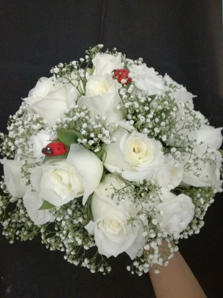 Rose with Babybreath Bridal Bouquet (BB-183) Bridal Bouquet Kuala Lumpur (KL), Selangor, Malaysia Supplier, Suppliers, Supply, Supplies | Shirley Florist