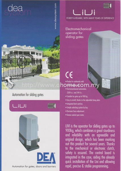 DEA Livi DEA Sliding Gate Selangor, Kajang, Malaysia, Kuala Lumpur (KL) Supplier, Supply, Installation, Service | A Home Automation Sdn Bhd