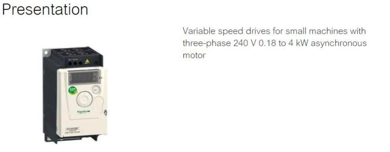 Altivar 12 - VSD Variable Speed Drive Schneider Electric Malaysia, Selangor, Kuala Lumpur (KL) Supplier, Suppliers, Supply, Supplies | MXT Automation Sdn Bhd