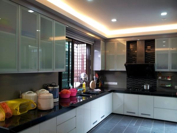 Wet Kitchen Granite Table top and cabinet  Wet Kitchen Design  Selangor, Kuala Lumpur (KL), Malaysia, Kajang Service | Xenn Interior Design