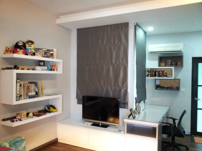Disply cum T.V Cabinet Design Boy's Room Design Selangor, Kuala Lumpur (KL), Malaysia, Kajang Service | Xenn Interior Design