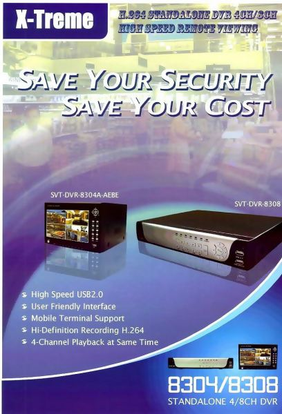 304/8308 Stand Alone 4/8CH DVR DF CCTV Selangor, Malaysia, Kuala Lumpur (KL), Subang, Puchong Supplier, Supply, Supplies, Installation | The One Control