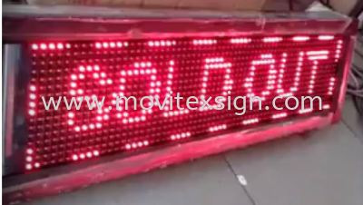 The LED mobile information system is suitable for restaurants, hotels, cafes, production countdowns and more. Ability to change controls or add new information by your HP or Pc (View Video)