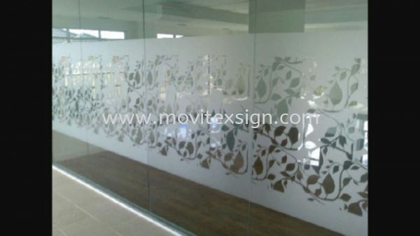 tinted glass for office, home or gerally with graphic printed or cutout hollow with many choice of sandblasted colour (click for more detail) Glass Display Johor Bahru (JB), Johor, Malaysia. Design, Supplier, Manufacturers, Suppliers | M-Movitexsign Advertising Art & Print Sdn Bhd