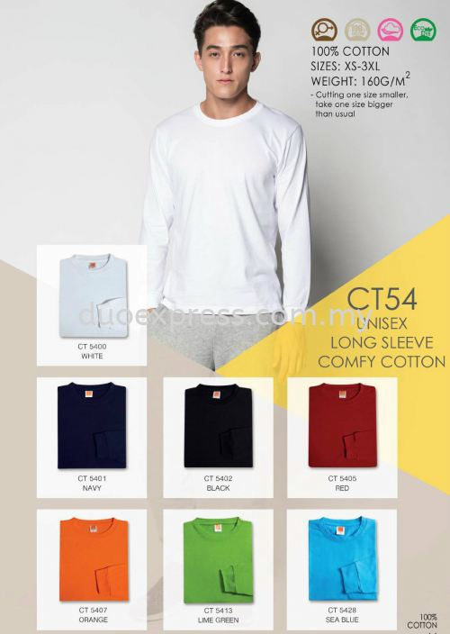 Roundneck Cotton T-Shirt ( Long Sleeve ) CT-54