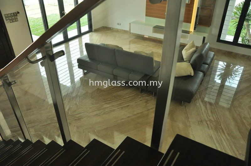 Staircase Glass Railing Ampang, Selangor, Malaysia. Suppliers, Installation, Supplier, Supply | H M Glass Sdn Bhd