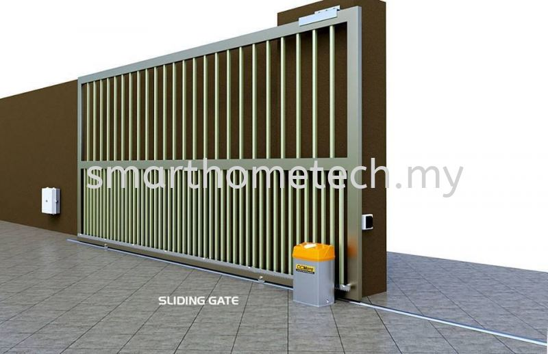 GFM-705-HR (Hybrid Power Version) DC Moto Auto Gate Melaka, Malaysia Supplier, Supply, Supplies, Installation | SmartHome Technology Solution
