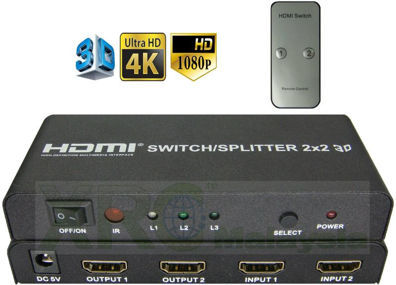 2 x 2 WAY HDMI SWITCH SPLITTER BOOSTER HDMI BOOSTER  SIGNAL BOOSTER Johor Bahru JB Malaysia Manufacturer & Supplier | XET Sales & Services Sdn Bhd