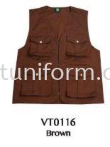 READY MADE VEST VT0116 (BROWN) TC DRILL Vest Selangor, Kuala Lumpur (KL), Malaysia Supplier, Suppliers, Supply, Supplies | GT Uniform Sdn Bhd