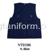 READY MADE VEST VT0106 (N.BLUE)  TC DRILL Vest Selangor, Kuala Lumpur (KL), Malaysia Supplier, Suppliers, Supply, Supplies | GT Uniform Sdn Bhd