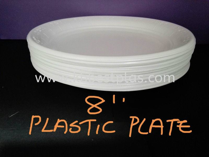 8'' Plastic Plate Disposable Plastic Product Penang, Malaysia, Perak, Kepala Batas Supplier, Suppliers, Supply, Supplies | KB BestPlas Enterprise