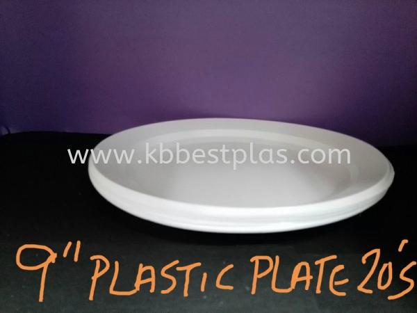 9'' Plastic Plate (20's) Disposable Plastic Product Penang, Malaysia, Perak, Kepala Batas Supplier, Suppliers, Supply, Supplies | KB BestPlas Enterprise