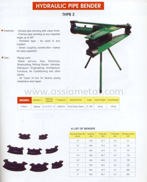 Pipe Bending Machine Metal Working Machine Johor Bahru, JB, Malaysia Supply Supplier Suppliers | Assia Metal & Machinery Sdn Bhd