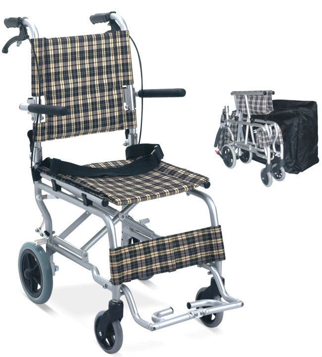 TRAVEL CHAIR LIGHTWEIGHT DROP BACK HANDLE & FLIP UP FOOTREST, FS804LABJP