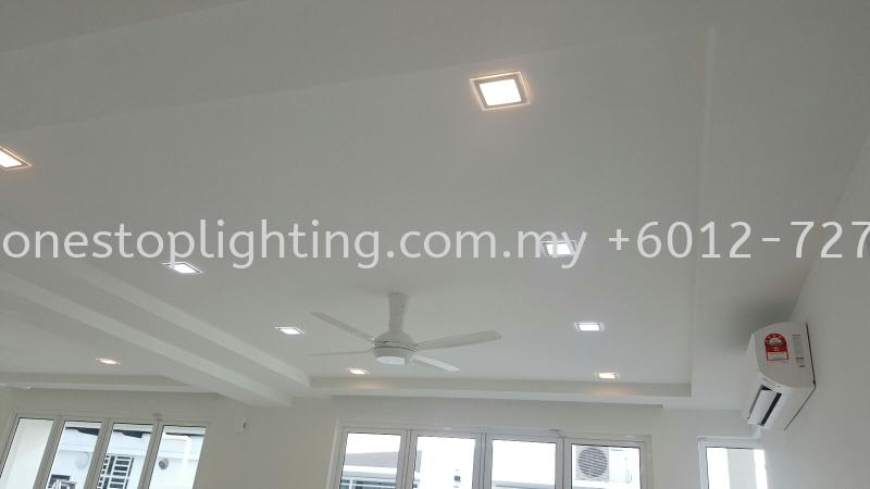 Jalan Sasa 49 Cornice Design Taman Gaya Johor Bahru JB Skudai Renovation | One Stop Lighting & Renovation
