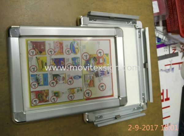 aluminum postel Frame for Photo or Manu used with 4 sided open up clips (click for more detail) Hotel floor plan/Map sign /Car tageAluminium Johor Bahru (JB), Johor, Malaysia. Design, Supplier, Manufacturers, Suppliers | M-Movitexsign Advertising Art & Print Sdn Bhd