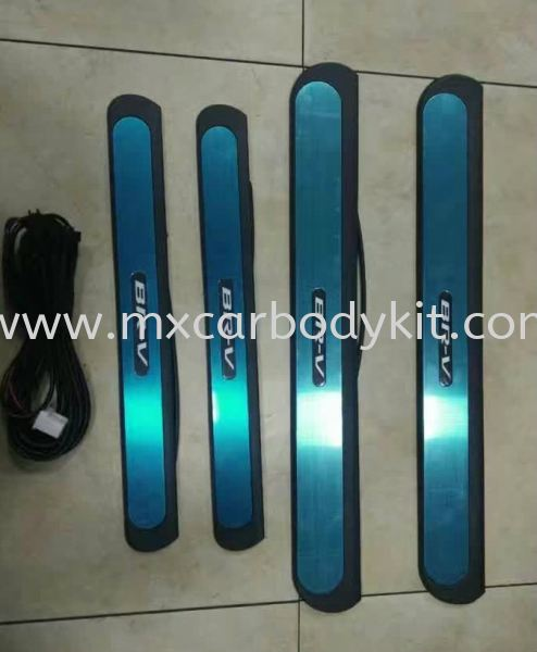 HONDA BR-V SIDE SILL PLATE WITH LED  SIDE SILL PLATE ACCESSORIES AND AUTO PARTS Johor, Malaysia, Johor Bahru (JB), Masai. Supplier, Suppliers, Supply, Supplies | MX Car Body Kit