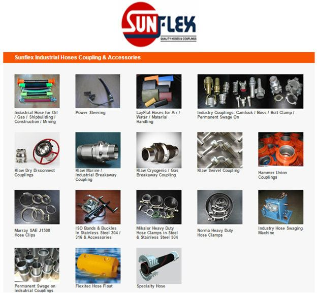 Sunflex Industrial Hoses Coupling & Accessories Sunflex Kuala Lumpur (KL), Malaysia, Selangor. Manufacturer, Supplier, Service, Laboratory Testing, Filtration   Canglobal