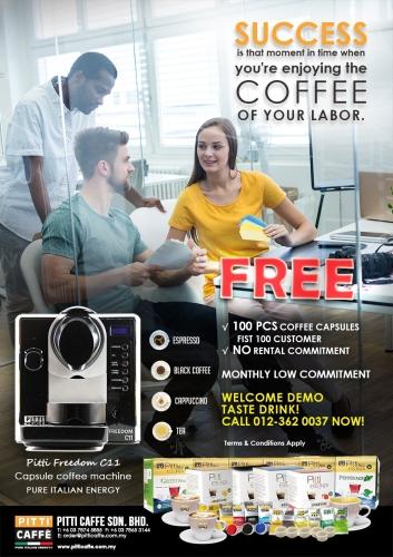 Coffee Machine Rental - Coffee or Tea?  Pitti Freedom Coffee & Tea Capsule Machine