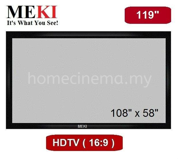 "Fixed - 119""D - 16.9 HDTV Fixed Frame Projector Screen Screen Selangor, Malaysia, Kuala Lumpur (KL), Kajang Supplier, Supply, Installation, Service | Monster DIY Trading"
