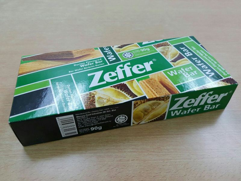 Zeffer Durian Wafer 90g Wafer ZEFFER Penang, Pulau Pinang, Malaysia, Bayan Lepas. Manufacturer, Wholesaler, Supplier | Street's Food Products Sdn Bhd