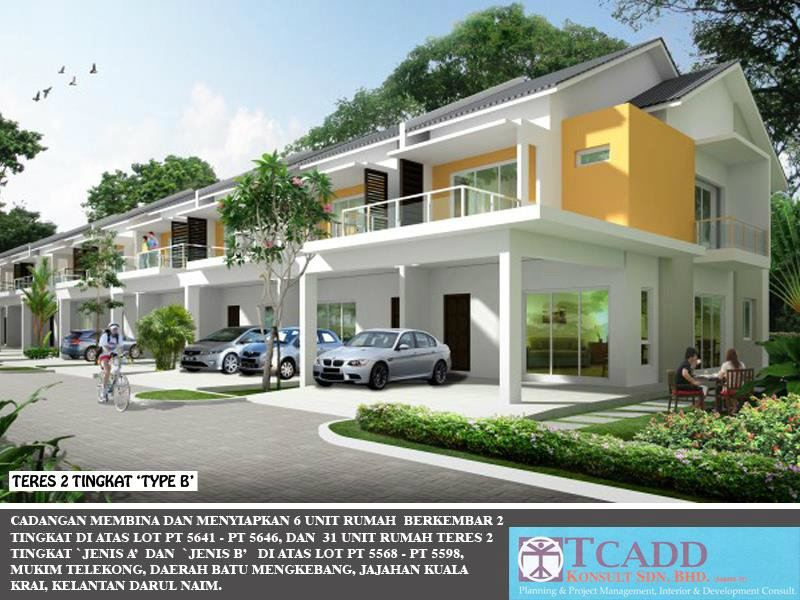 DOUBLE STORIES TERRACE HOUSE TYPE B RESIDENTIAL Kelantan, Malaysia Buy, Houses, For Sale | M One Country Development Sdn Bhd
