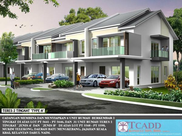 DOUBLE STORIES TERRACE HOUSE TYPE A RESIDENTIAL Kelantan, Malaysia Buy, Houses, For Sale | M One Country Development Sdn Bhd