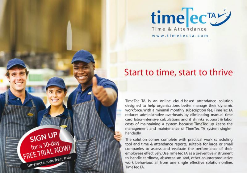 Time&Attendance TimeTec Cloud Johor Bahru (JB), Malaysia Supplier, Supply, Supplies, Installation | NewVision Systems & Resources Sdn Bhd