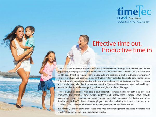 TimeTec Leave Solution TimeTec Cloud Johor Bahru (JB), Malaysia Supplier, Supply, Supplies, Installation | NewVision Systems & Resources Sdn Bhd