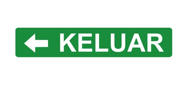 Box Type Single Side White Legend LED Keluar Sign  Arrow Left BOX TYPE LED KELUAR SIGN LED KELUAR SIGN EVERBRIGHT PRODUCTS Kluang, Johor, Malaysia Supplier Supply Manufacturer | ECO LED Lighting Solution